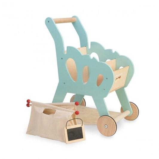 Le Toy Van Shopping Trolley (W/ Detachable Fabric Bag)