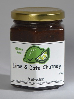 St Andrews Limes Lime and Date Chutney
