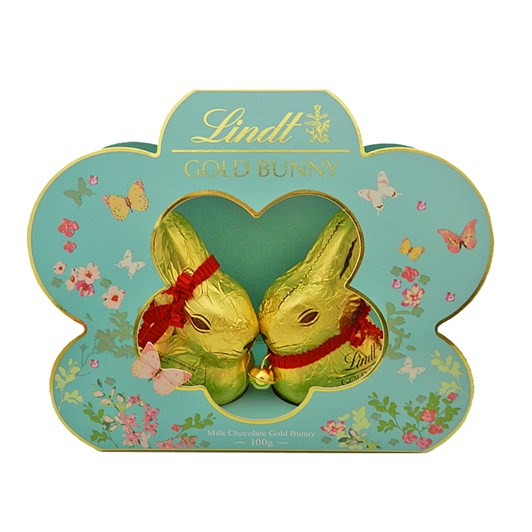 Lindt Twin Gold Bunny In Flower 100g