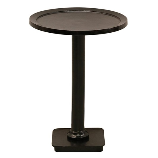 CC Interiors Round Side Table In Antiqued Bronze Finish