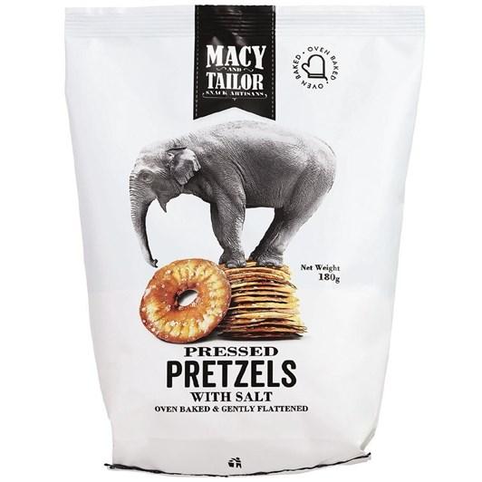 Macy and Tailor Pressed Pretzels Salt 180g