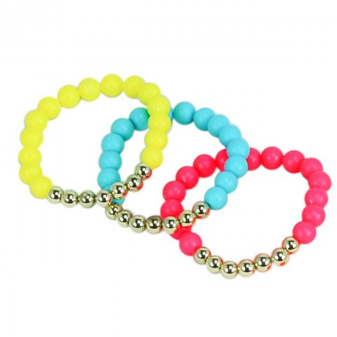 Pink poppy set of 3 Calypso Bracelet