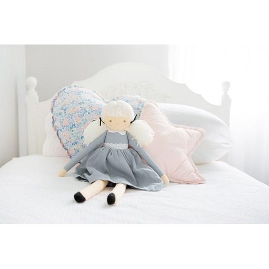 Alimrose Pippa Doll 52cm Grey Linen