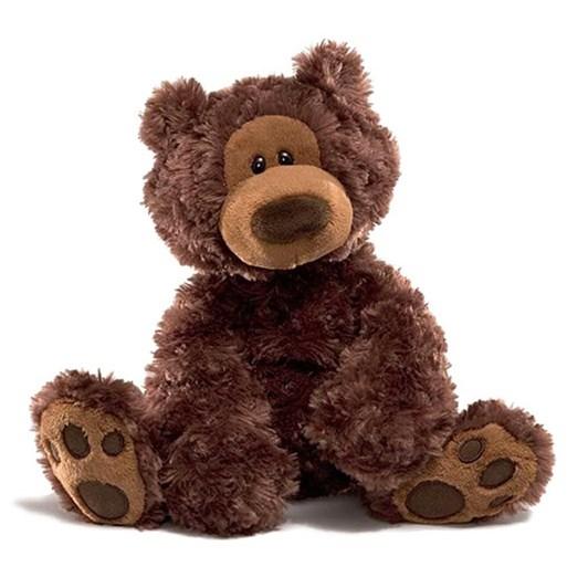 Jasnor Bear: Philbin Dark Brown 33Cm