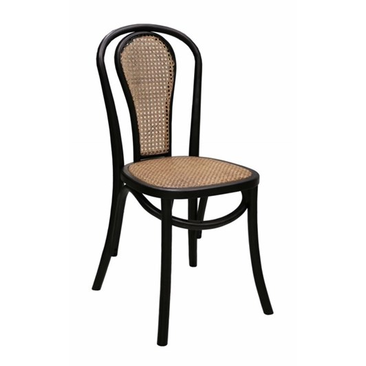 CC Interiors Bentwood Black Chair With Chestnut Cane