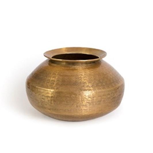 Nadee Vase Short Brass Mtl 25X17Cm