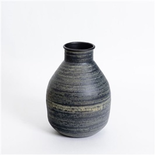 Nadee Vase Blk Sml 15X23Cm