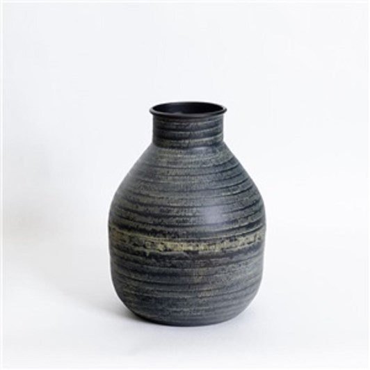 Nadee Vase Blk Lg 20X28Cm
