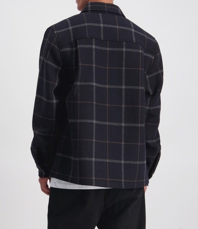 Huffer Wool Check Shacket