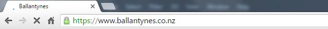 image of address bar showing SSL padlock on Chrome browser